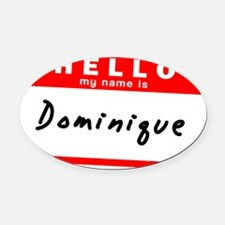 Dominique Oval Car Magnet