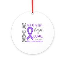 D Hodgkins Lymphoma Needs a Cure 3 Round Ornament