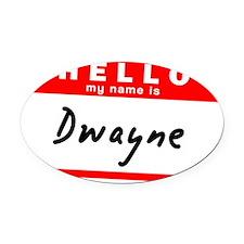 Dwayne Oval Car Magnet