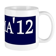 Obama 12  bumper sticker navy Mug