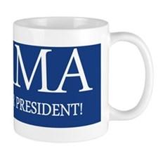 I support our president bumper sticker Small Mug