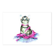 Pink Ribbon Kitty Postcards (Package of 8)