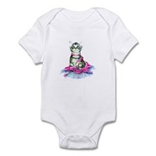 Pink Ribbon Kitty Infant Bodysuit