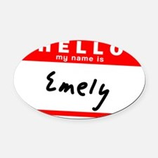 Emely Oval Car Magnet