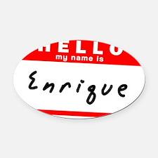 Enrique Oval Car Magnet