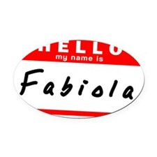 Fabiola Oval Car Magnet