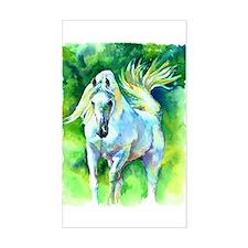 Arabian Horse Art Rectangle Decal