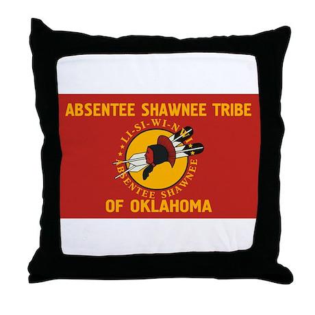 Absentee Shawnee Flag Throw Pillow