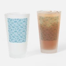 Blue seashells pattern Drinking Glass