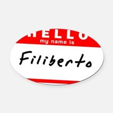 Filiberto Oval Car Magnet