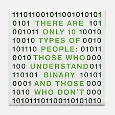 binary-01b-green-cp Tile Coaster