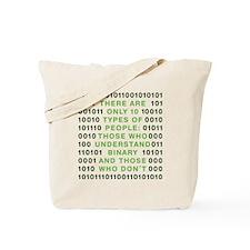 binary-01b-green-cp Tote Bag