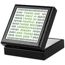 binary-01b-green-cp Keepsake Box