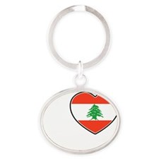 Beirut Oval Keychain