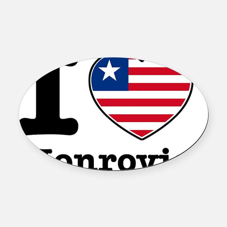 Monrovia.1 Oval Car Magnet