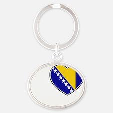 Sarajevo Oval Keychain