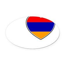Yerevan Oval Car Magnet