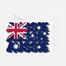 aussie drop shadow Greeting Card