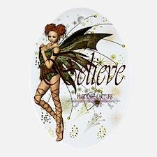 believe fairy huge 2 Oval Ornament