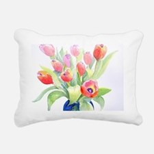 Tulips2OutsideTRAY Rectangular Canvas Pillow