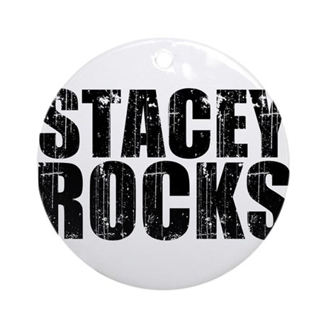 Stacey Rocks Ornament (Round)