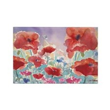 SMLG GUIDEred poppies_w3 sig Rectangle Magnet