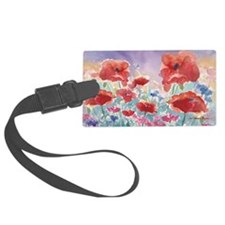 SMLG GUIDEred poppies_w3 sig Luggage Tag