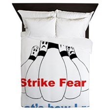 strike fear Queen Duvet
