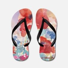 32SQSMLG GUIDEred poppies_w3 sig Flip Flops