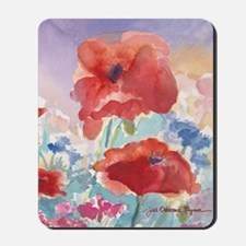 32SQSMLG GUIDEred poppies_w3 sig Mousepad