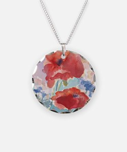 32SQSMLG GUIDEred poppies_w3 Necklace