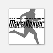 """runner_quote1 Square Sticker 3"""" x 3"""""""