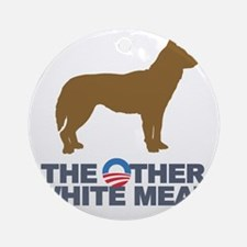 Obama other white meat Round Ornament
