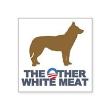 """Obama other white meat Square Sticker 3"""" x 3"""""""