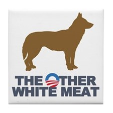 Obama other white meat Tile Coaster