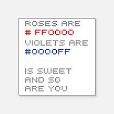 "hex-poem-01a Square Sticker 3"" x 3"""