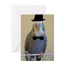 charlie top hat classy Greeting Card