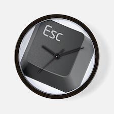 push-to-esc Wall Clock
