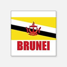 BRUNEI FLAG T SHIRT Sticker