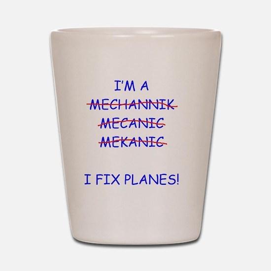 Planes Shot Glass
