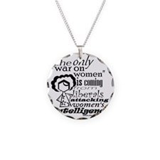 waronwomen Necklace Circle Charm