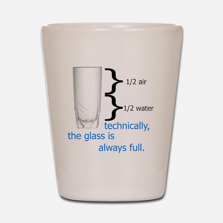 Glass 1-2 full Shot Glass