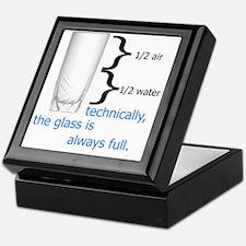 Glass 1-2 full Keepsake Box