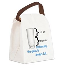 Glass 1-2 full Canvas Lunch Bag