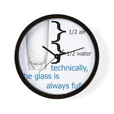 Glass 1-2 full Wall Clock