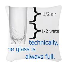 Glass 1-2 full Woven Throw Pillow