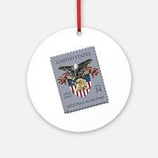 USMA Stamp Round Ornament