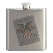USMA Stamp Flask