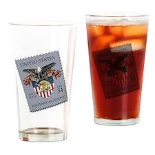 USMA Stamp Drinking Glass