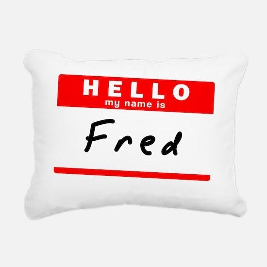 Fred Rectangular Canvas Pillow